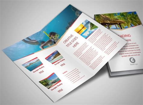 travel agency bi fold brochure template