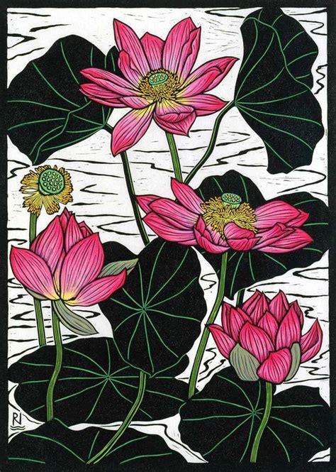 tattoo paper sydney sacred lotus ii 49 x 35 cm edition of 50 hand coloured