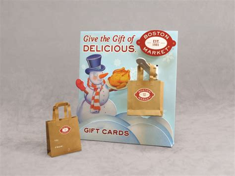 Boston Market Gift Card - boston market gift card display and holders