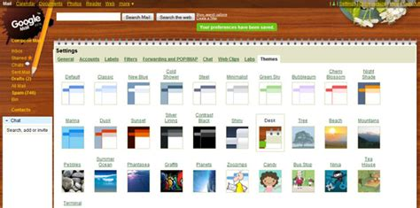 gmail chat themes google adds themes to gmail kevin muldoon