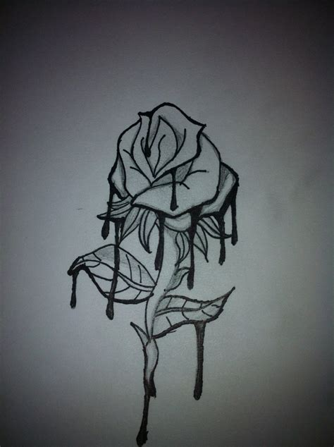 tattoo rose drawing drawings pictures to pin on pinsdaddy