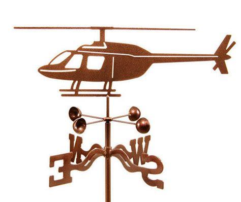Weathervane Decor Helicopter Steel Weather Vane Aviation Wind Vane