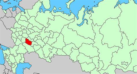 russia penza map penza oblast