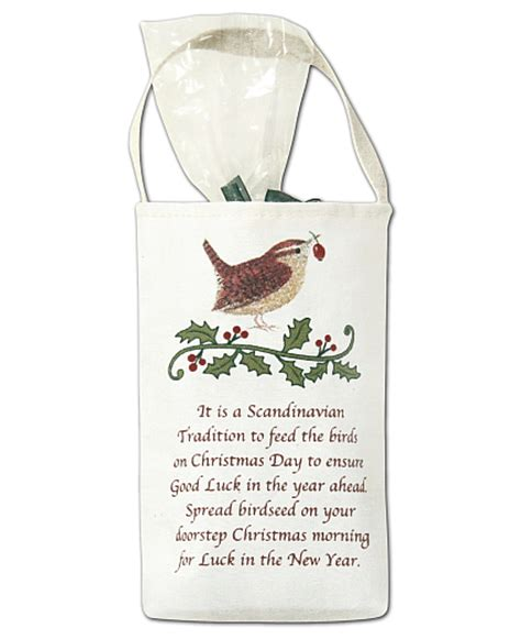 holiday bird seed gift bag good luck bird seed gift bag