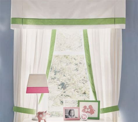 curtains pottery barn kids pottery barn kids pair of marissa linen border panels