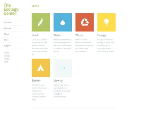flat design menu exles 23 exles of flat web design web design ledger
