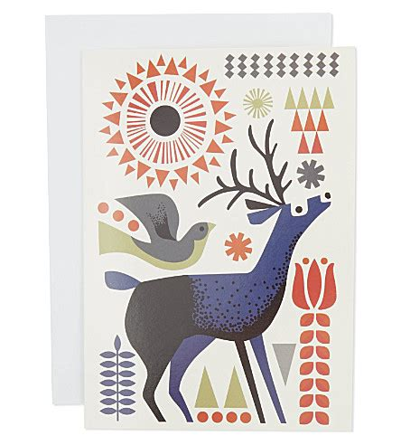 donation as a christmas gift birds the great card company deer bird charity cards 12 pack selfridges