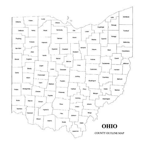 ohio map by county ohio county map jigsaw genealogy