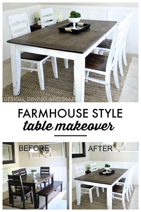 Turn Dining Room Table Into Desk Farmhouse Table Makeover Style Farmhouse Table And Tables