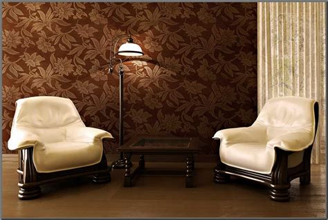 Sofa Minimalis Warna Coklat motif wallpaper ruang tamu wallpapersafari
