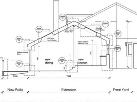 Kitchen Extension Plans Ideas building warrant drawings for a house extension youtube