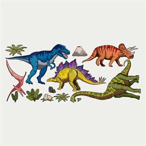 dinosaur wall stickers dinosaurs wall sticker