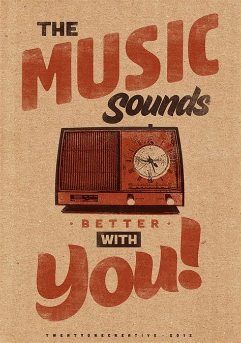 printable music poster music sounds better with you vintage poster retro art