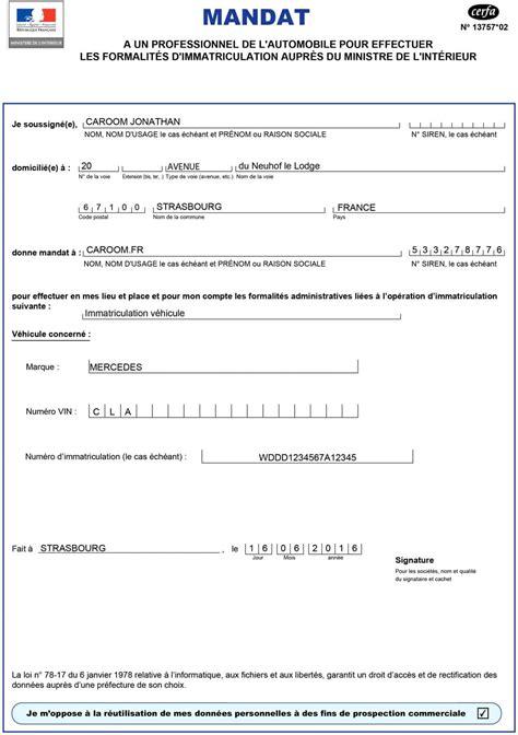 Norauto Immatriculation Modele