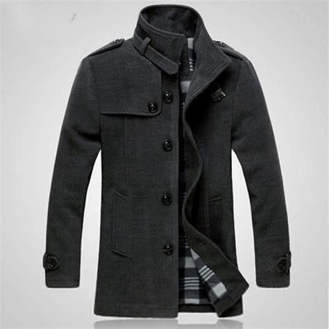 Button Jacket buy fashion winter mens warm woolen fleece jacket coat
