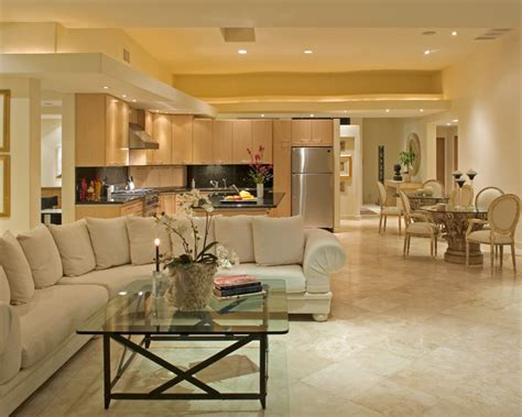 Kitchen Den Kitchen And Living Room Flooring Ideas