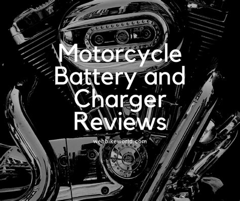 motorcycle battery charger review motorcycle battery and charger reviews webbikeworld