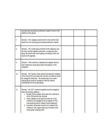 decision process template decision template decision log template 7 free word excel