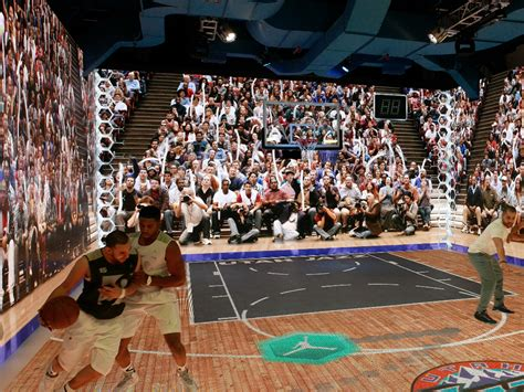 shoe store with basketball court immersive michael simulator is the world s coolest