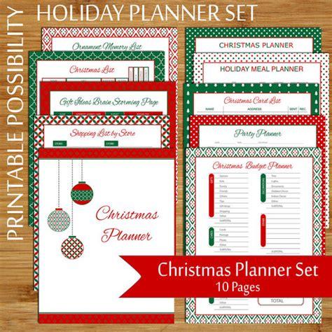 printable christmas organiser christmas planner set 10 page printable christmas organizer
