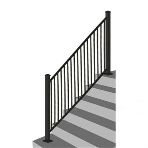 home depot banister rails rdi 8 ft x 34 in black square baluster stair rail panel