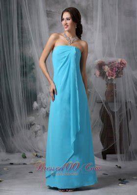 baby blue floor l aqua blue bridesmaid dresses
