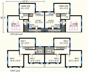 Brick Home Floor Plans by Large Evening Duplex Brick House Floor Plan