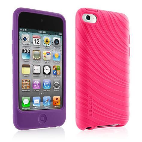 fundas de ipod 4 par de fundas de silicon para ipod touch 4g morada rosa