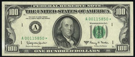 1977 100 federal reserve note value how much is 1977