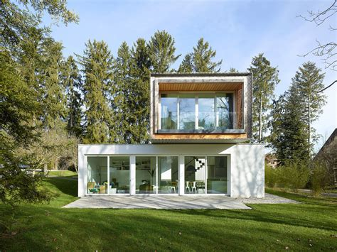 bridge house cantilevered tannay bridge house in switzerland makes the most of a narrow plot