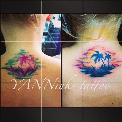 watercolor tattoos before and after before and after cover up covering