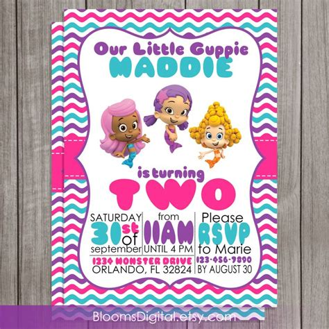 guppies invitations templates 25 best ideas about guppies invitations on