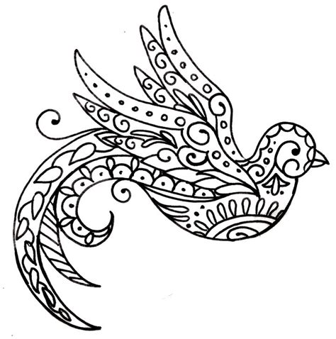 best 25 bird ideas on best 25 paisley bird tattoos ideas on black