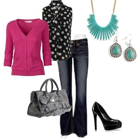 polyvore casual work outfits  uk