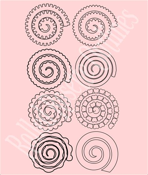 rolled paper roses template rolled rosette flower templates paper flowers