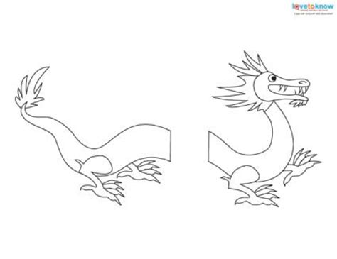 printable dragon templates printable new years crafts lovetoknow