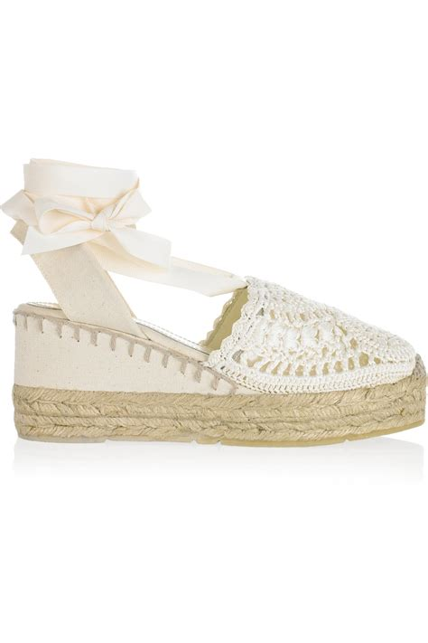 ralph collection umika crocheted espadrille wedges