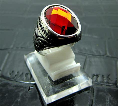 Batu Mulia Import jual cincin titanium import silver pria cowok model batu