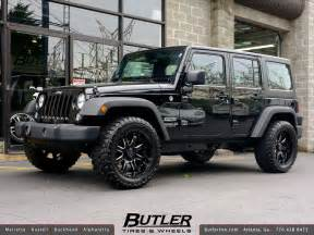 jeep wrangler with 20in black rhino wheels