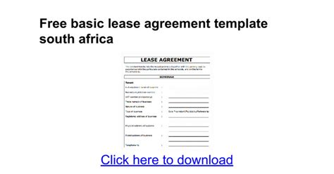 lease agreement template south africa templates resume