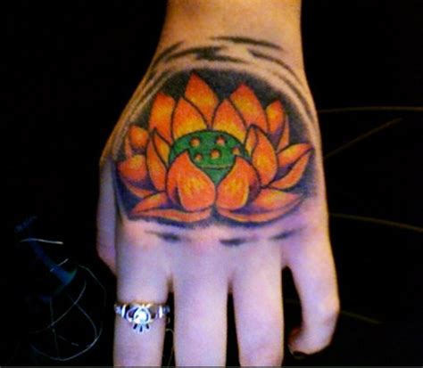 tattoo lotus hand lotus flower hand tattoo design sheplanet