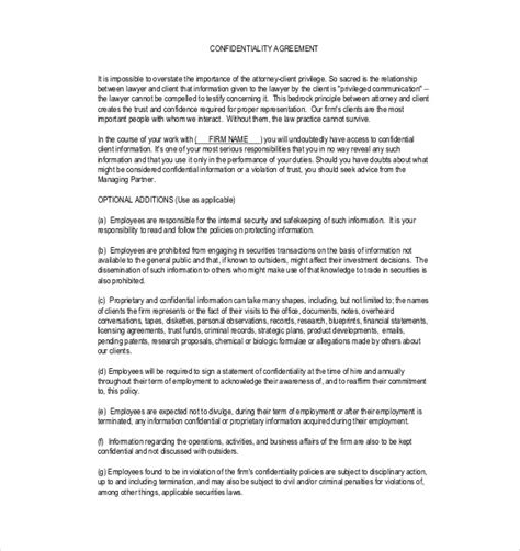 Security And Confidentiality On The Essay by 19 Confidentiality Agreement Templates Doc Pdf Free