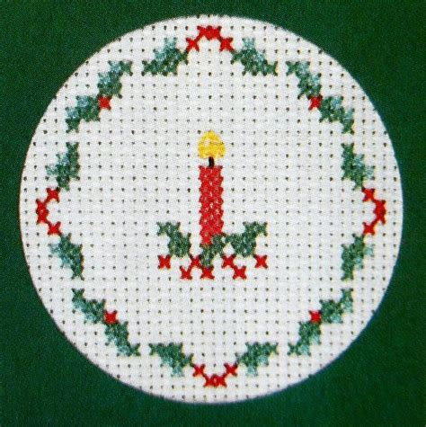 counted cross stitch ornament free patterns 3 patterns candle snowflake robin cards ornaments