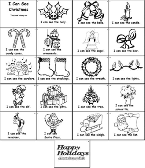 printable christmas coloring pages in spanish kindergarten predictable text christmas vocabulary