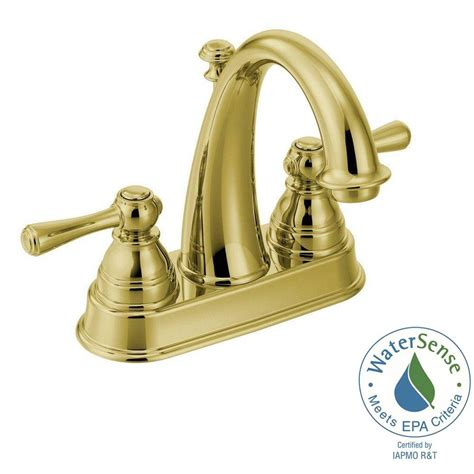 polished brass kitchen faucet moen polished brass bathroom faucets