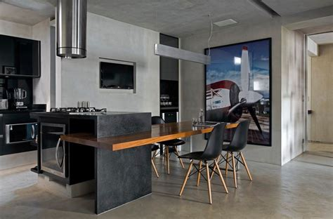 contemporary loft finds  perfect balance  cool