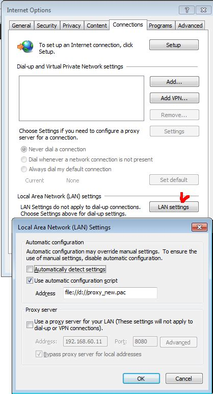 Intranet Ip Address Lookup Pac File Bypass Proxy For Local Addresses Search Prioritychange