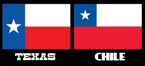 Texas Vs Chile Flag | difference between chile and texas flags new style for