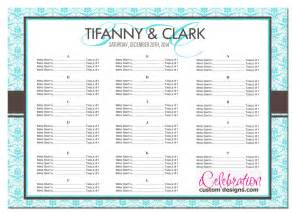 seating chart for wedding template sle seating chart for wedding reception