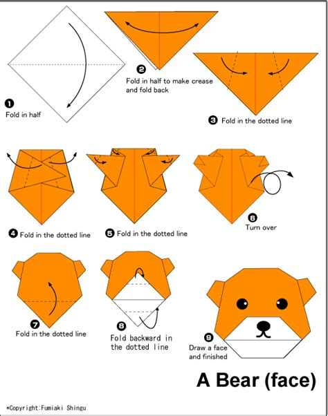 Simple Origami Animal - easy origami paper origami guide